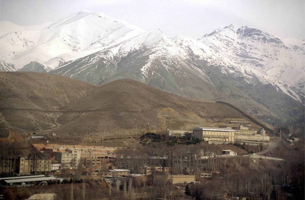 Snow-capped Alborz Mountains form a backdrop to the Evin prison in Tehran, where Washington Post journalist Jason Rezaian was held in a cell with barred windows that offered some light but no view. (Ulrich Baumgarten/Getty Images)