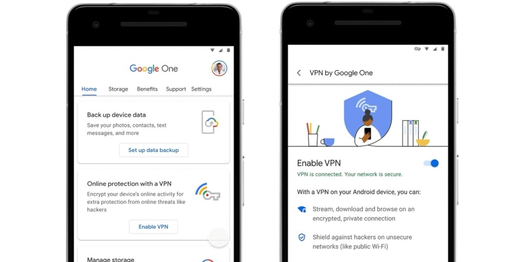 Google One's 2TB and higher plans adding Android VPN - 9to5Google