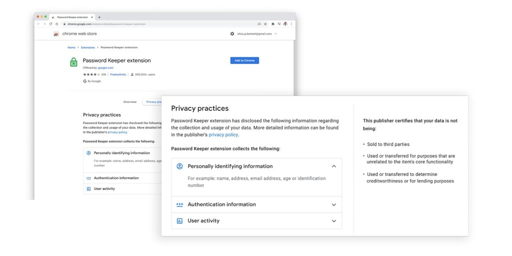 Chrome Web Store extension data collection disclosure - 9to5Google