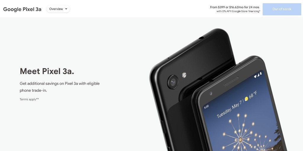 Pixel 3a is currently 'out of stock' at the US Google Store - 9to5Google