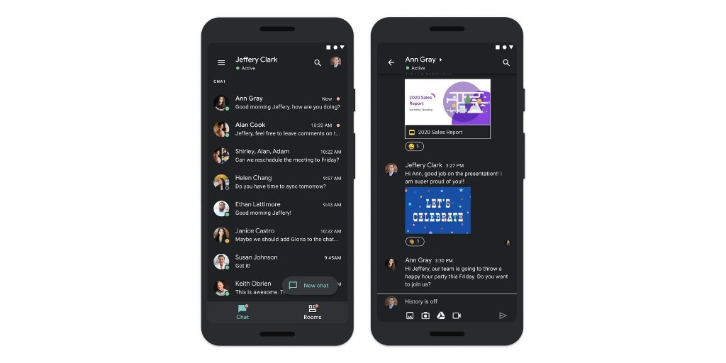 Google Chat rolling out dark theme for Android and iOS - 9to5Google