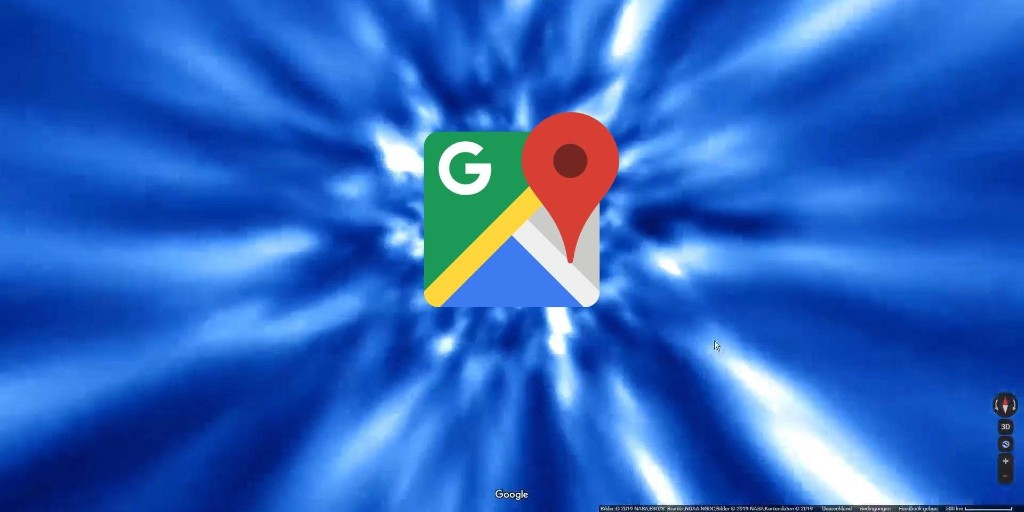 Google Maps uses hyperspace to travel between planets - 9to5Google