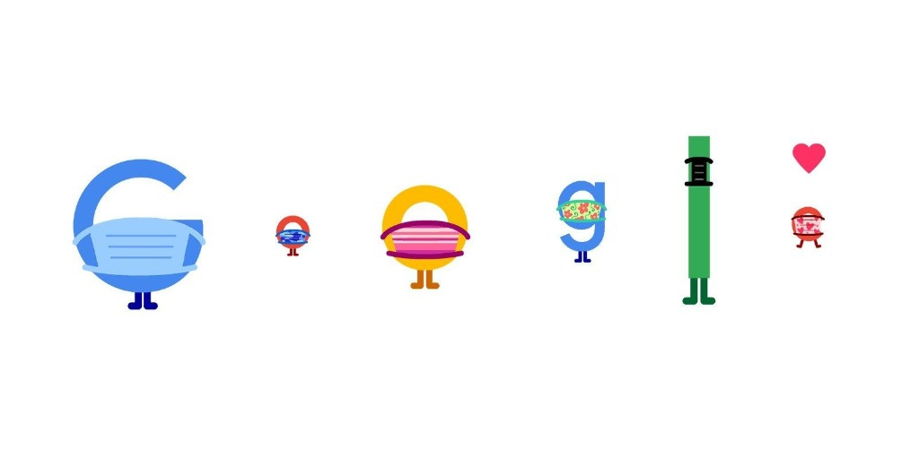 Google Doodle promotes COVID-19 prevention w/ masks - 9to5Google