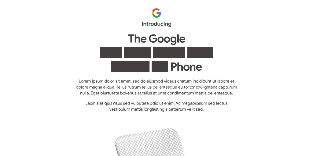 Google teases Pixel 4a unveil on August 3 with 'lorem ipsum' - 9to5Google