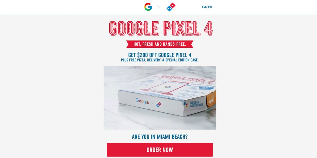 Google delivered Pixel 4's in Dominos pizza boxes today - 9to5Google