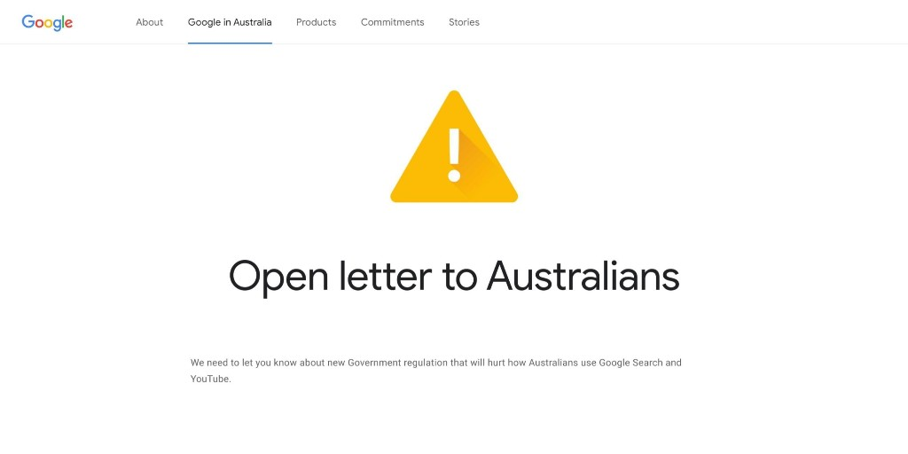 Google Australia publishes open letter on proposed news law - 9to5Google