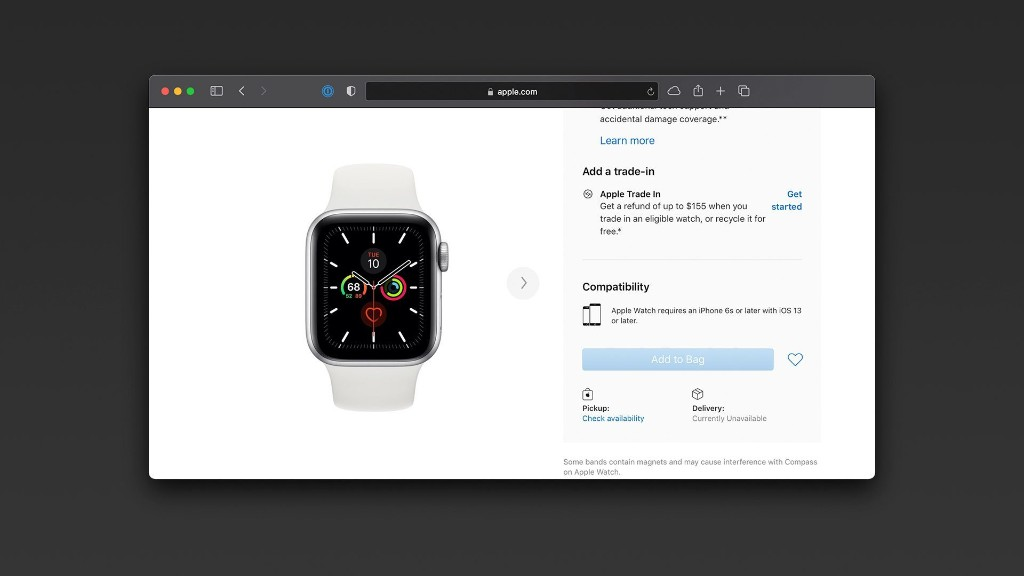 Most Apple Watch Series 5 models unavailable from Apple ahead of rumored Series 6 release - 9to5Mac