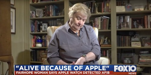 Alabama woman says 'no doubt' Apple Watch atrial fibrillation detection saved her life