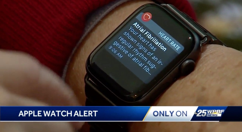 Florida man who had 'no idea what AFib was' saved by Apple Watch during holiday travel