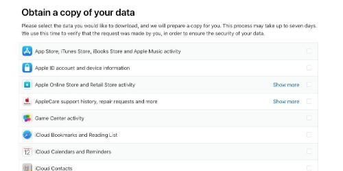 Apple launches new privacy portal, users can download a copy of everything Apple knows about them