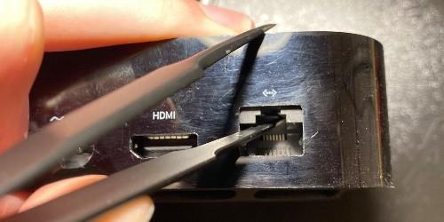 Apple hid a Lightning connector for debugging in the Apple TV 4K's ethernet port