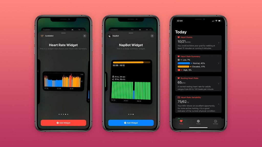 CardioBot and NapBot apps updated with redesigned interface, iOS 14 widgets, more - 9to5Mac