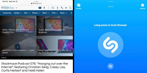 Shazam update brings Split View support to iPad along with new delete gesture - 9to5Mac