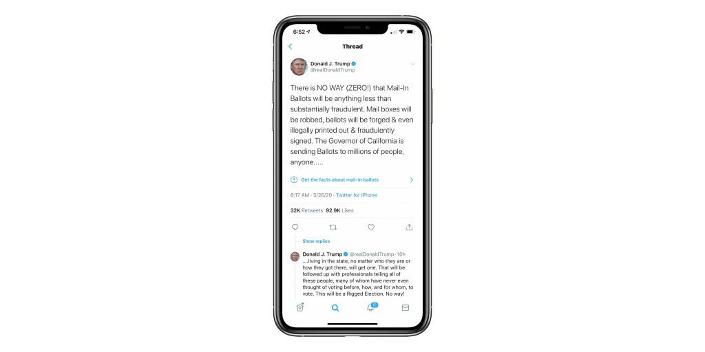 [Update: Trump responds] Twitter puts a fake news tag on Trump tweets for the first time - 9to5Mac
