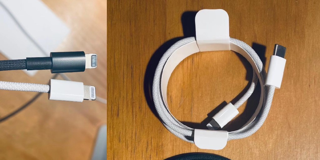 Braided Apple iPhone lightning cable pictured, expected to ship with iPhone 12 - 9to5Mac