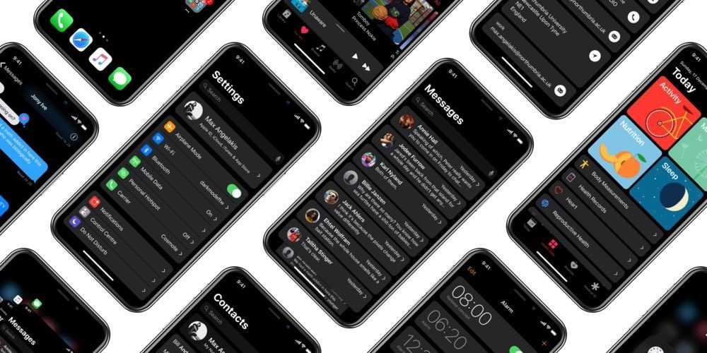 British college student imagines system-wide dark mode on iPhone X - 9to5Mac