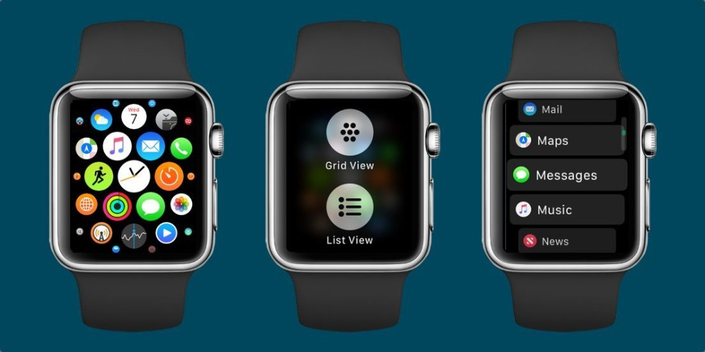 How to switch between list view and honeycomb app grid on Apple Watch with watchOS 4 - 9to5Mac