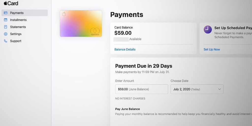 Apple launches web portal for Apple Card, pay your bill and view statements online - 9to5Mac