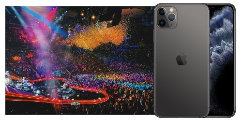 iPhone 11 Pro Max camera shoots incredibly detailed concert photography in low light