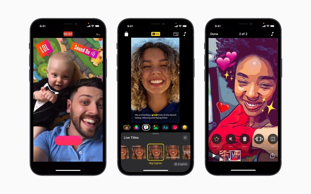 Apple refreshes its Clips app with new UI, horizontal support, HDR recording on iPhone 12 - 9to5Mac