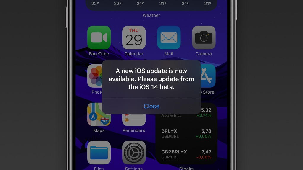 iOS 14 beta users are being notified with a constant message about a non-existent update - 9to5Mac