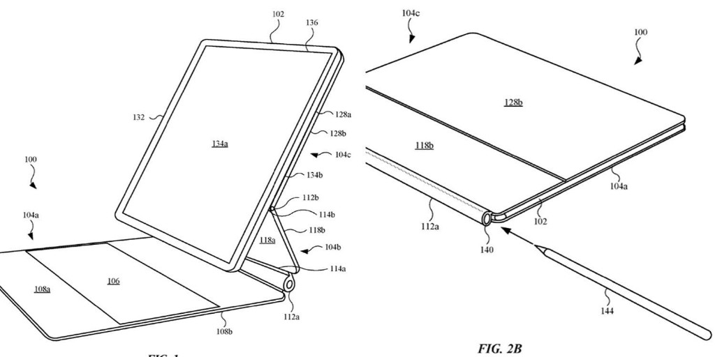 Patent for the iPad Magic Keyboard shows Apple Pencil slot- 9to5Mac