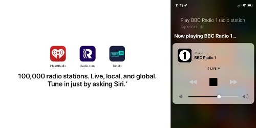 Apple starts to roll out support to play 100,000 radio stations with Siri on iPhone and HomePod