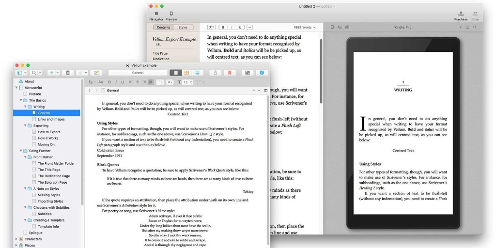 Writing app Scrivener makes it easier to format your book in Vellum - 9to5Mac