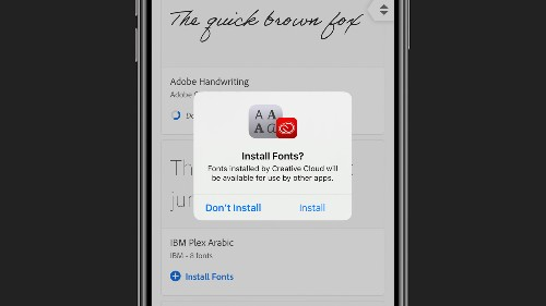 Adobe Creative Cloud app updated with free custom fonts for iOS 13 and iPadOS