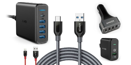 Anker's new Amazon sale from $8: 5-port 60W Charger w/ USB-C $34, Lightning Cables, more