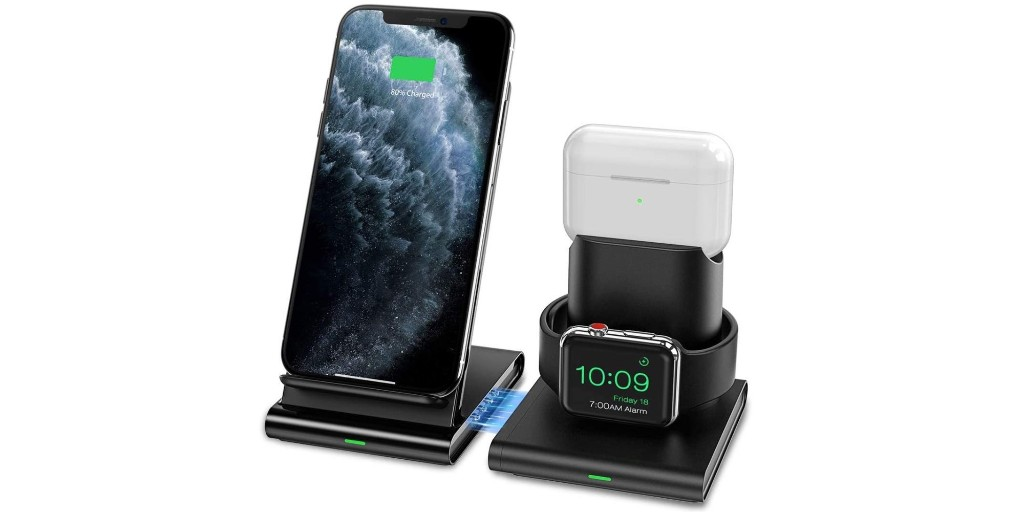 Seneo's 3-in-1 wireless charging station includes a QC 3.0 adapter at $33 - 9to5Toys