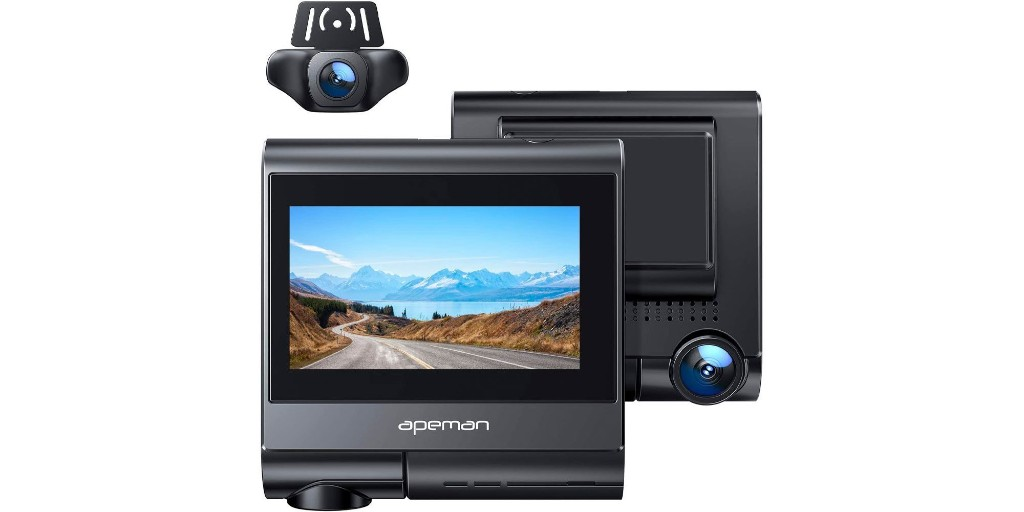 Apeman's dual dash camera has built-in GPS + more at $83.50 (40% off) - 9to5Toys