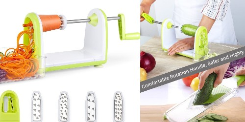 Stop cutting veggies by hand, this 5-Blade Spiralizer is down to $14 Prime shipped