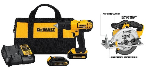 Amazon 1-day DEWALT sale up to 42% off: Cordless Drill/Driver + Saw Kit $138, more - 9to5Toys
