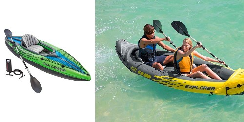 Take to the lake with Intex's highly-rated inflatable kayaks from $42