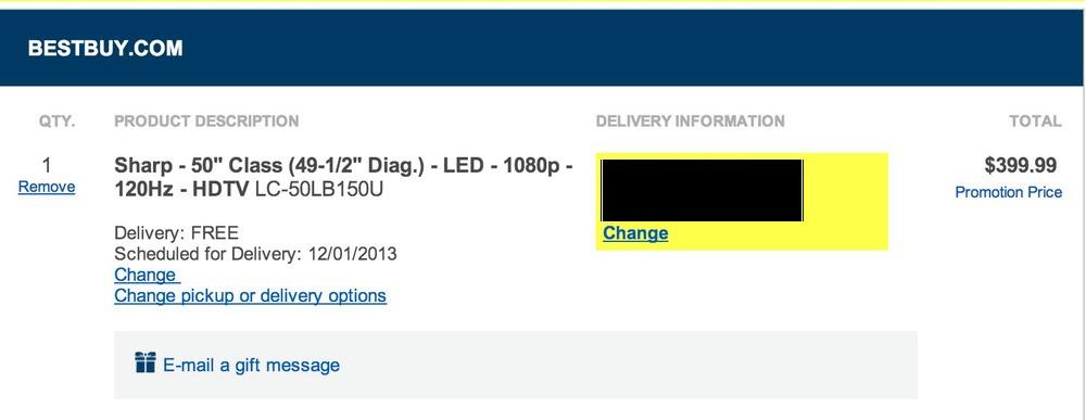 Sharp 50″ LED 120Hz 1080P HDTV LC-50LB150U: $400 shipped, 39″ Vizio/JVC 1080P, $300