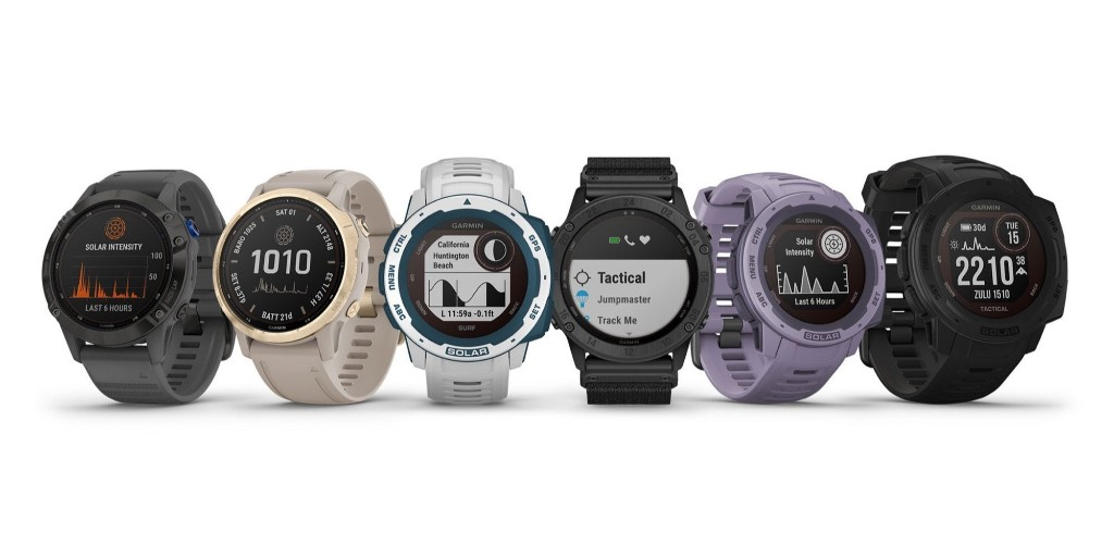 Garmin chases solar smartwatches with four new offerings - 9to5Toys