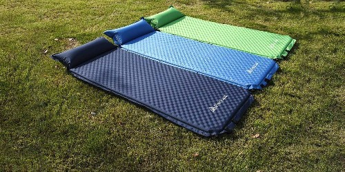 Camp under the stars this fall with a self-inflating sleeping pad for $21.50