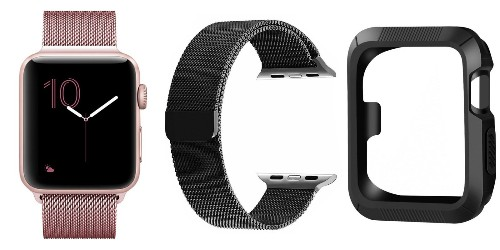 Milanese Loop Apple Watch bands w/ case for $7 Prime shipped