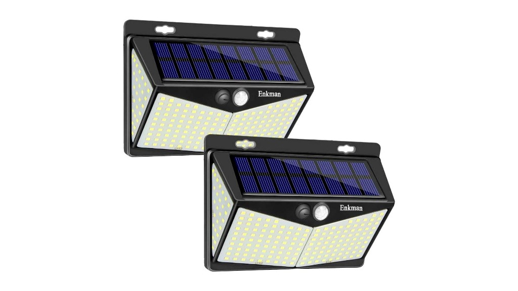 This 2-pack of solar outdoor LED lights offers a combined 6,400-lumens for $9.50 each - 9to5Toys
