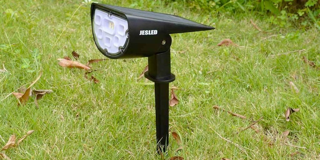 This 2-pack of LED solar spotlights offer 1,300-lumens of brightness at $15 - 9to5Toys