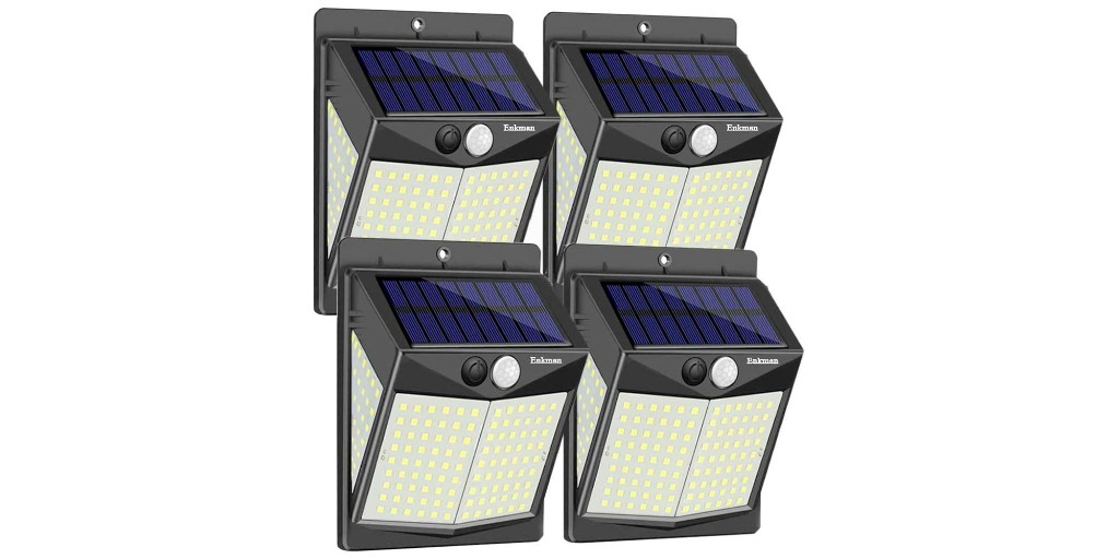 Illuminate your yard with a 4-pack of 3,000-lumen solar LED lights for under $6.50 each - 9to5Toys