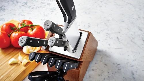 Always have sharp knives w/ a 12-pc self-sharpening Calphalon set: $80 (Reg. $150)