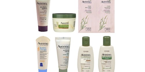 Amazon's Aveeno Sample Box is effectively free after credit for Prime members (Reg. $8)