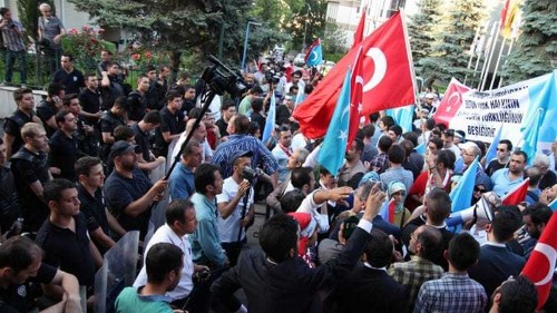 China says no 'Uighur problem' after Turkey protests