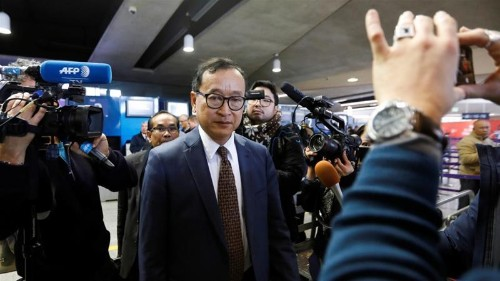 Indonesia bars Cambodia's Rainsy from flight to Jakarta: airline