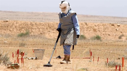 When will landmines be cleared?