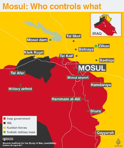 Iraqi forces take control of Mosul Airport