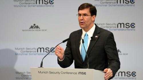 Mark Esper: 'Rising threat' China tops US's adversaries list