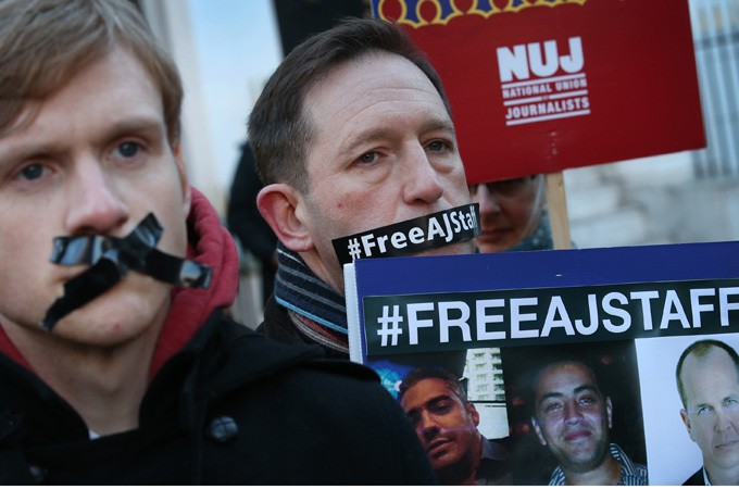 Al Jazeera staff held for one year in Egypt